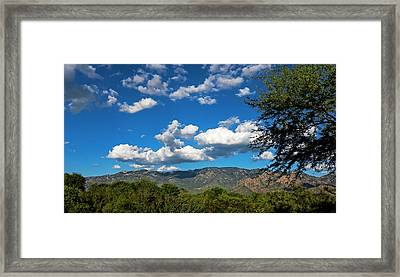Framed Print featuring the photograph Catalina Mountains H48 by Mark Myhaver