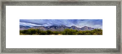 Framed Print featuring the photograph Catalina Mountains P1 by Mark Myhaver
