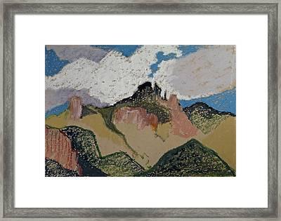 Catalinas Patchwork Framed Print