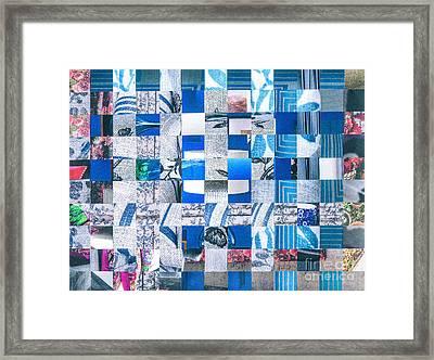Catalogue Blues Framed Print by Jan Bickerton