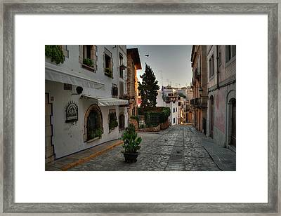 Framed Print featuring the photograph Catalonia - The Town Of Sitges 003 by Lance Vaughn