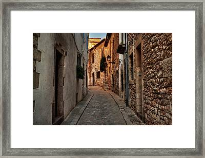 Framed Print featuring the photograph Catalonia - The Town Of Sitges 006 by Lance Vaughn