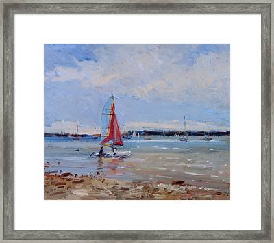 Catamaran  Brittany Framed Print by Christopher Glanville