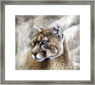 Catamount Framed Print by Sandi Baker
