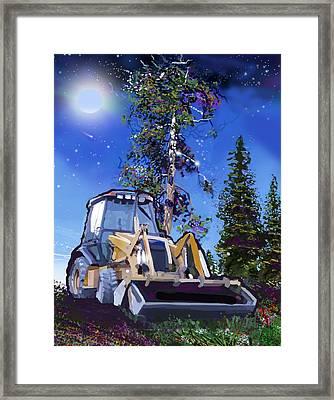 Catapillar And Trees Framed Print