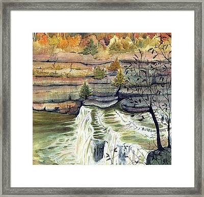 Cataract Falls Framed Print