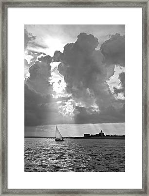 Catboat In Barnstable Harbor Framed Print