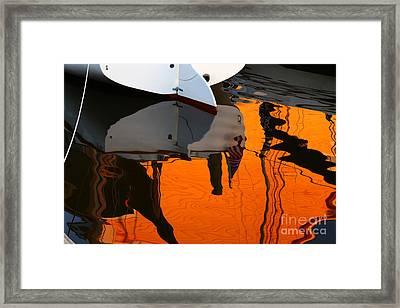 Catboat Reflection Framed Print