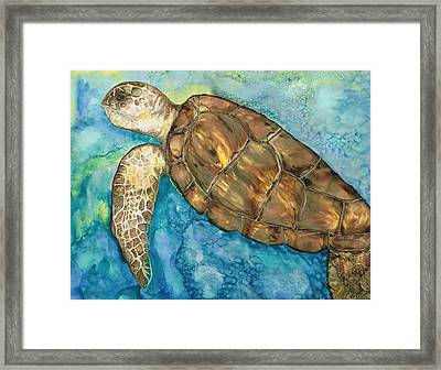 Catch A Wave Framed Print by Lisa  Marsing