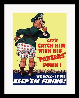 Us Propaganda Framed Prints