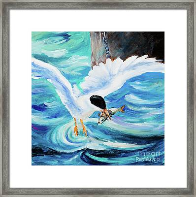 Framed Print featuring the painting Catch by Igor Postash