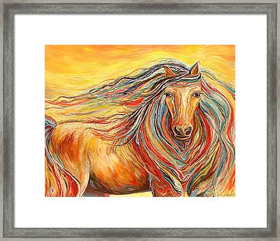 Catch Me If You Can Framed Print by Rebecca Robinson