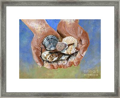 Catch Of The Day Framed Print by Sheryl Heatherly Hawkins