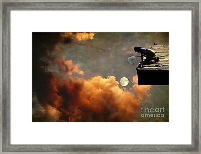 Catch The Moon Framed Print by Sonya Kanelstrand