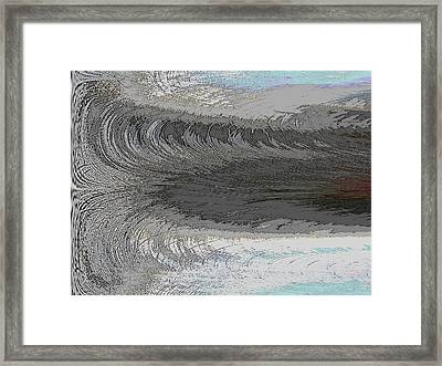 Catch The Wave Framed Print by Tim Allen