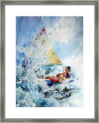 Catch The Wind Framed Print by Hanne Lore Koehler