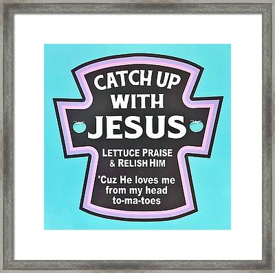 Framed Print featuring the photograph Catch Up With Jesus  Alt by Rob Hans