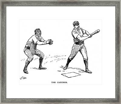 Catcher & Batter, 1889 Framed Print by Granger