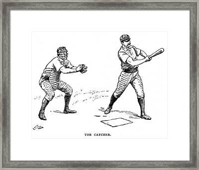 Catcher & Batter, 1889 Framed Print by Granger
