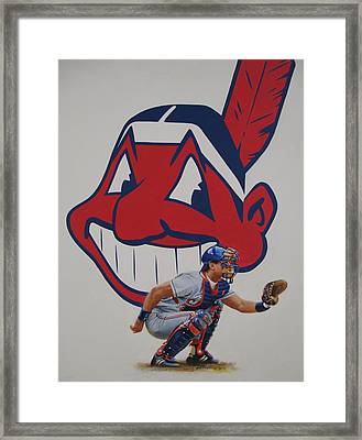 Framed Print featuring the painting Catcher by Cliff Spohn