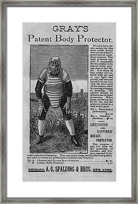 Catcher's Body Protector Framed Print