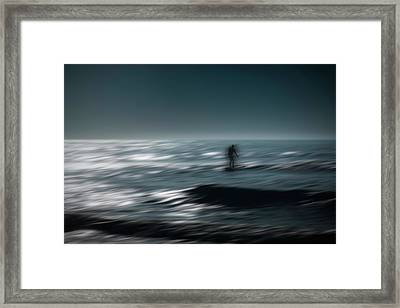 Catching A Wave Framed Print by Eduard Moldoveanu
