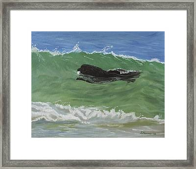 Catching A Wave Framed Print