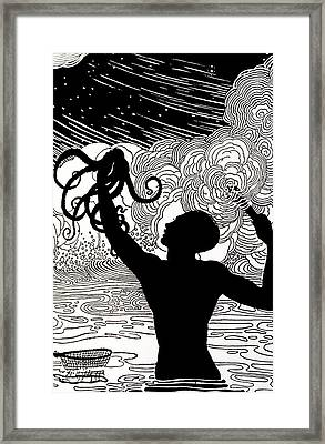 Catching Octopus Framed Print