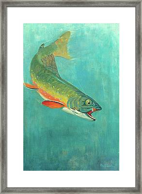 Catching The Bait Framed Print by Philip R Goodwin