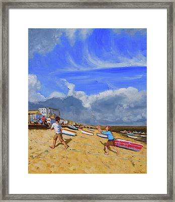 Catching The Ball, St Ives Framed Print