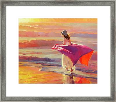 Catching The Breeze Framed Print by Steve Henderson