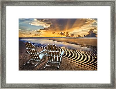 Catching The Dawn Framed Print by Debra and Dave Vanderlaan