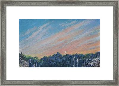 Catching The Sunset Framed Print by Penny Neimiller
