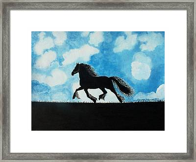 Framed Print featuring the painting Catching The Wind by Connie Valasco