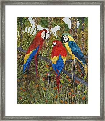 Catching Up On Gossip Framed Print