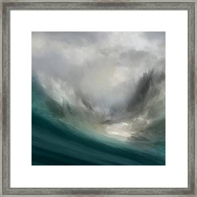 Catching Waves Framed Print by Lonnie Christopher