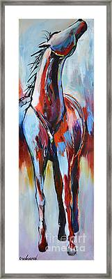 Framed Print featuring the painting Catching Wind by Cher Devereaux