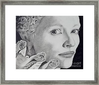 Cate Blanchett As The Virgin Queen Framed Print by Lise PICHE