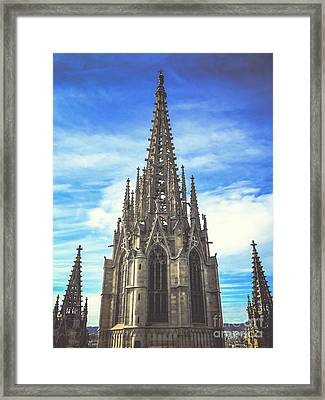 Framed Print featuring the photograph Catedral De Barcelona by Colleen Kammerer
