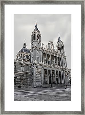 Catedral De La Almudena Framed Print by Angel Jesus De la Fuente