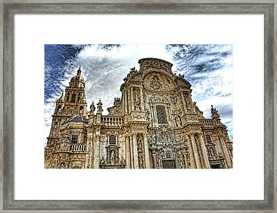 Framed Print featuring the digital art Catedral De Murcia by Angel Jesus De la Fuente