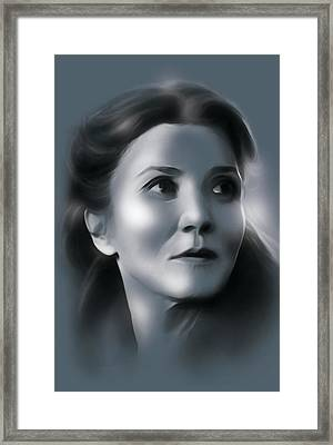 Catelyn Stark Framed Print by Marina Pacurar