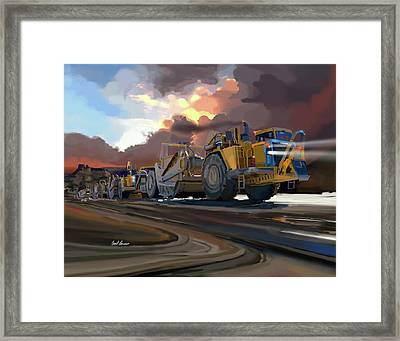 Caterpillar Scrapers Framed Print