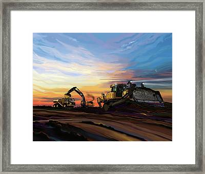 Caterpillars In The Field Framed Print