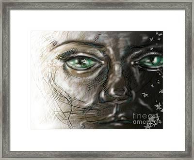 Catface Framed Print by Iglika Milcheva-Godfrey