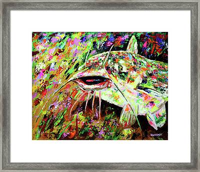 Catfish In Colors Framed Print by Karl Wagner