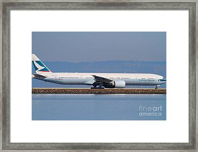 Cathay Pacific Airlines Jet Airplane At San Francisco International Airport Sfo . 7d11882 Framed Print by Wingsdomain Art and Photography