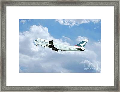 Cathay Pacific Boeing 747 Framed Print