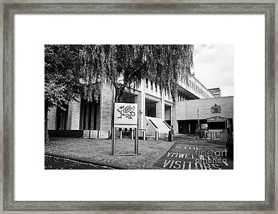 Cathays Park 2 Cp2 Crown Buildings Welsh Goverment Office Cardiff Wales United Kingdom Framed Print