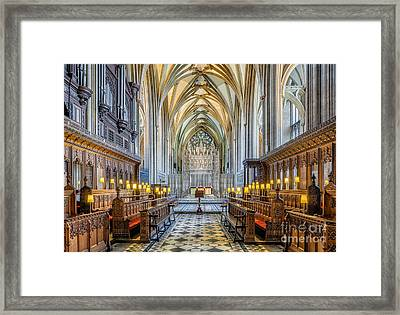 Cathedral Aisle Framed Print by Adrian Evans